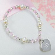 Little Girl's Heart Charm Bracelet