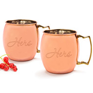 Hers/Hers Moscow Mule Copper Mug Set