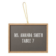 Miniature Synthetic Chalkboard with Wooden Frame (Set of 6)