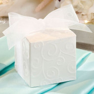 Flocked Swirl Design Favor Box Kit (Set of 24)