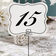 Scrolled Edge Table Number Cards (1-25)