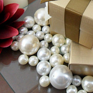 Decorative Ivory and White Pearls in Assorted Sizes {Pack of 34}
