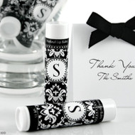 Monogrammed Lip Balm in Damask Design