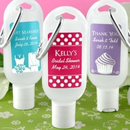Personalized Hand Sanitizer Favor with Clip