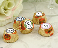 Personalized Hersheys Miniature Reese's Cups in Monogram Designs