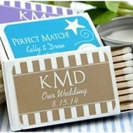 Personalized Silhouette Wedding Matches in White Box (Set of 50)