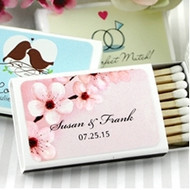 Personalized Themed Wedding Matches in White Box (Set of 50)