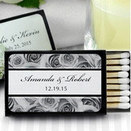 Personalized Themed Wedding Matches in Black Box (Set of 50)