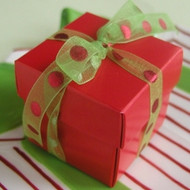 Holiday Red Favor Box (Set of 10)