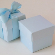 Pastel Blue Square Box with Lid (Set of 10)