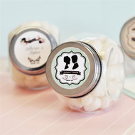 Vintage Wedding Personalized Candy Jars