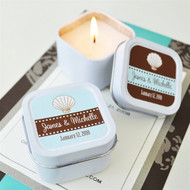 Personalized Theme Square Travel Candle Tins