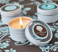 Personalized Theme Round Travel Candle Tins