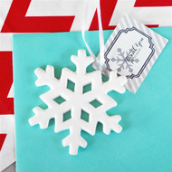 Porcelain Snowflake Ornament Favor