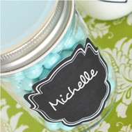 Fancy Square Frame Vinyl Chalkboard Labels (Set of 24)