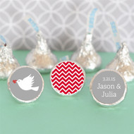 Personalized Theme Hershey's Kisses Labels Trio (Set of 108)