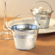 Miniature Galvanized Tin Pail