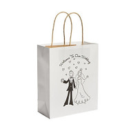 Happy Couple Wedding Welcome Paper Gift Bag