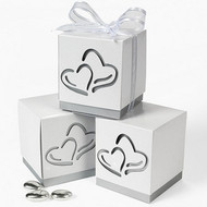Two Hearts Favor Boxes (Set of 12)