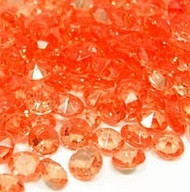 Diamond Confetti in Orange (1000 Pieces)