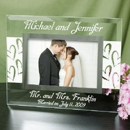 Mr. and Mrs. Personalized Glass Frame