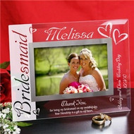 Personalized Bridesmaid Glass Frame
