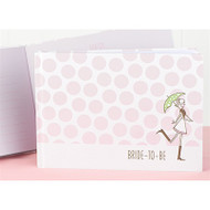 Pink Polka Dot Bridal Shower Guest Book