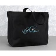 """""""Bride"""" Tote Bag in Black"""