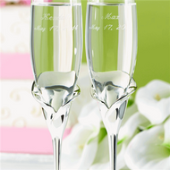 Calla Lily Toasting Flute Set