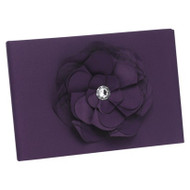 Floral Fantasy Guest Book in Eggplant