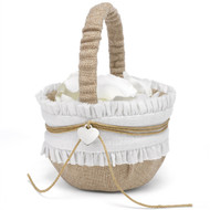 Rustic Romance Burlap Flower Basket