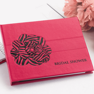 Zebra Print Shower Guest Book in Fuchsia