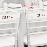 Mr. and Mrs. Satin/Lace Chair Sashes