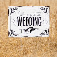 Vintage Wedding Ceremony Sign