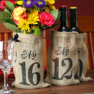 Burlap Table Number Bags