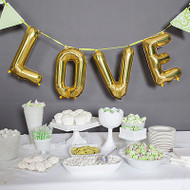 LOVE Balloon Kit in Gold (16 Inch)
