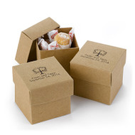Personalized Kraft Colored Favor Box (Set of 25)