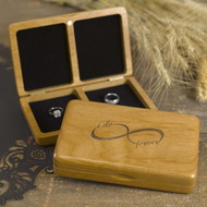 """I do forever"" Infinity Wooden Ring Box"
