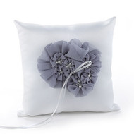 Glamorous Grey Ring Pillow