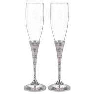 Enchanting Crystal Toasting Flute Set