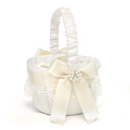 Splendid Elegance Flower Girl Basket