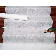 Lace Design Fabric Aisle Runner in White