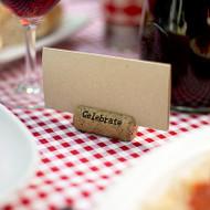 """Celebrate"" Cork Place Card Holders (Set of 6)"