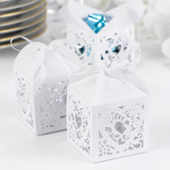 White Shimmer Decorative Favor Box Kit (Pack of 25)