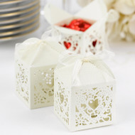 Ivory Shimmer Decorative Favor Box Kit (Pack of 25)