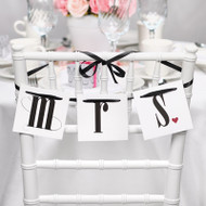 Mr. and Mrs. Chair Banners with Ribbon