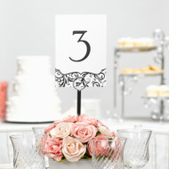 Flourish Table Number Cards