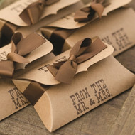 """""""From the Mr. and Mrs."""" Kraft Pillow Box (Set of 25)"""