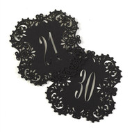 Black Laser Cut Table Number Cards (Available in 1-40)