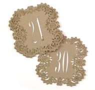 Kraft Laser Cut Table Number Cards (Available in 1-40)